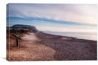 Hengistbury Head and Beach, Canvas Print
