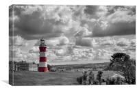 Plymouth Hoe and Smeatons Tower , Canvas Print