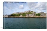 The Royal Citadel Plymouth, Canvas Print