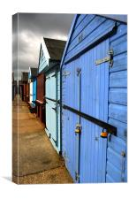 Highcliffe huts, Canvas Print