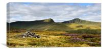 Pen Y Fan and Cribyn, Brecon Beacons late summer., Canvas Print