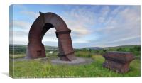 Twisted Chimney, Bute Town, Rhymney Valley., Canvas Print