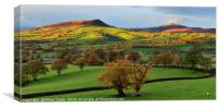 The Skirrid and Sugarloaf as a storm approaches., Canvas Print