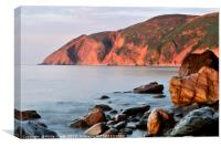 Countisbury Hill, Lynmouth just before sundown. , Canvas Print