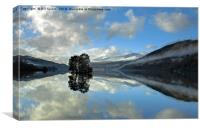Loch Tay at Kenmore, Canvas Print