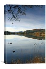 The Lake of Menteith, Canvas Print