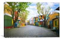 """The colourful """"Caminito"""" in Buenos Aires , Canvas Print"""
