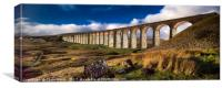 Ribblehead viaduct and by moonlight, Canvas Print