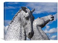 The Kelpies in Falkirk, Scotland, Canvas Print