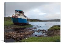 Abandoned Fishing Boat on the Shore of Loch Eishor, Canvas Print