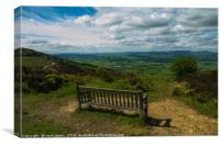 A seat with a view, Canvas Print
