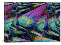 Abstract tie dye, Canvas Print