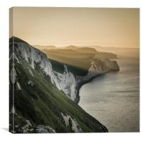 Summer sunrise on the Jurassic Coast in Dorset, Canvas Print