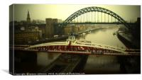 Behind The Heart of Newcastle, Canvas Print