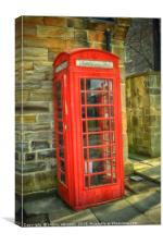 A Red Telephone Box, Canvas Print