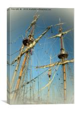 North East Tall Ships Race, Canvas Print