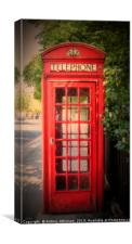 London Red Phone booth, Canvas Print