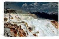 Mammoth Hot Springs, Yellowstone National Park, Canvas Print