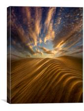 Sunrise Over Camber Sands , Canvas Print