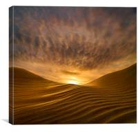 Sunrise at Camber Sands, Kent, Canvas Print