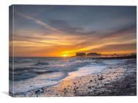 Sunrise Drama Queen - Cromer, Canvas Print