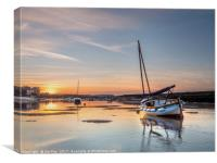 Sun setting on a Quiet Day Burnham Overy, Canvas Print