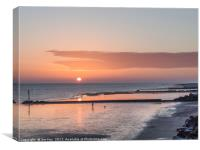 Early morning Sheringham Beach, Canvas Print