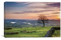 Sunset from The Roaches., Canvas Print