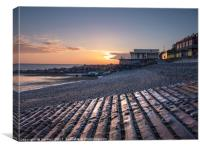 The Fishing Boat Ramp Sheringham , Canvas Print