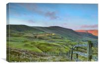 The Great Ridge from Mam Tor, Canvas Print