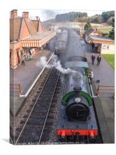 Trains now Standing  NNR Weybourne, Canvas Print