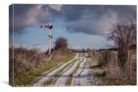 The Footpath to the Heath Weybourne, Canvas Print
