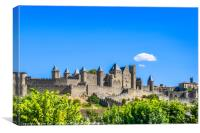 Cité de Carcassonne, Canvas Print