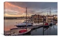 Sunrise at Wells Quay, Canvas Print