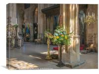 Easter at St John Baptist Cirencester , Canvas Print