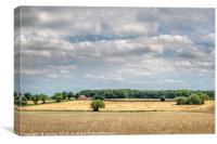 Harvest time in North Norfolk, Canvas Print