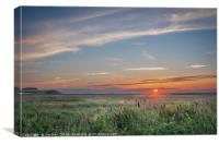 Sunset at Salthouse, Canvas Print