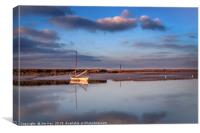 Solitary Boat at Burnham Overy , Canvas Print