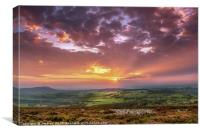 Sunset in the Valleys, Canvas Print