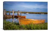 Wooden Rowing Boat Burnham Overy, Canvas Print