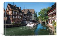 Historical quarter and Ill river in Strasbourg, Canvas Print