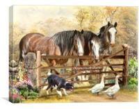 Featherwell Farm, Canvas Print