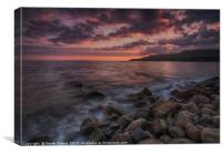 Kimmeridge Sunset, Dorset, Canvas Print