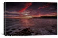 Kimmeridge Sunset, Canvas Print