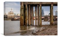View from under the pier, Canvas Print