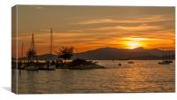 Sunset over English Bay Vancouver Canada, Canvas Print