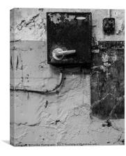 Old switch Fuse, Canvas Print