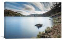 Ladybower reservoir from the top, Canvas Print
