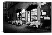Italian Restaurant in Lucca, Italy, Canvas Print