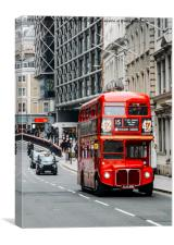 London Routemaster Bus, Canvas Print